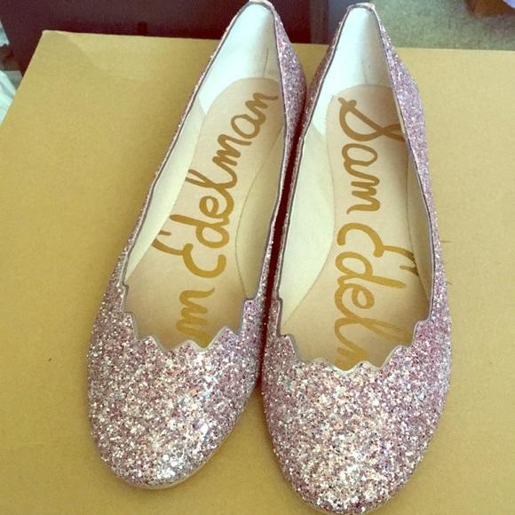 cc8fc2b07 Brand New Pink Glitter Flats from San Edelman